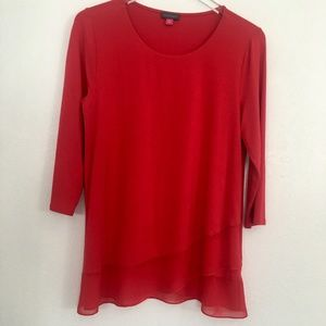 VINCE CAMUTO / TRUE RED TOP